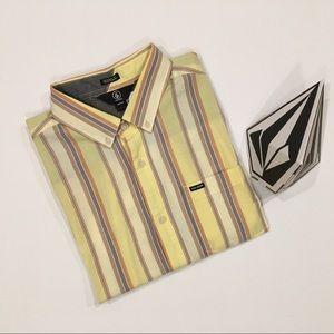 Volcom Acid Yellow Multi Toner Shirt NWT